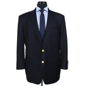 Brooks Brothers Madison Saxxon Wool Blazer Navy